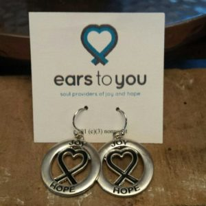Heart Ribbon signature earrings