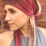 raspberry headscarf
