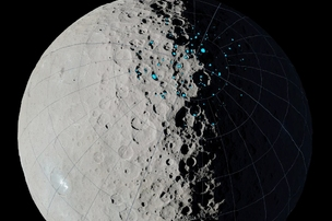 Ice in the craters of Ceres is associated with the