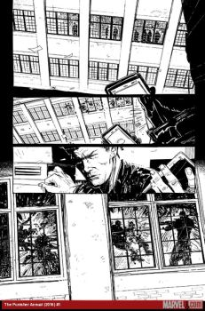 The Punisher Annual (2016) #1 preview inks by Felix Ruiz