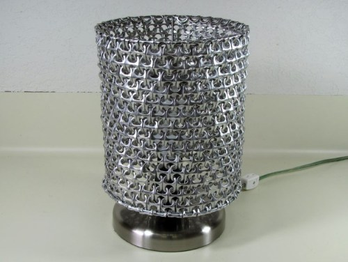 lampshade made from soda can pop tops