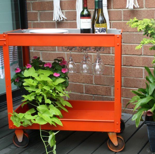 upcycled pushcart bar cart