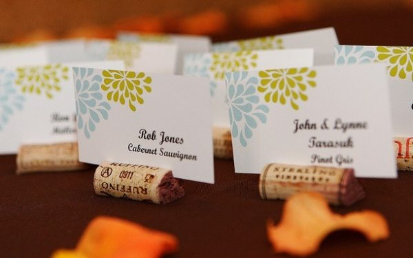 Wine cork placeholders