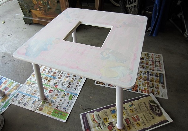 play table after priming