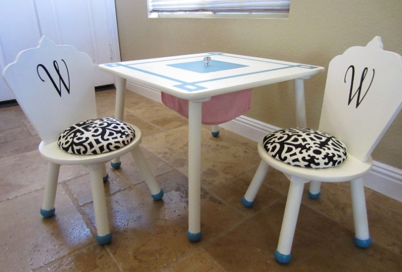completed play table makeover