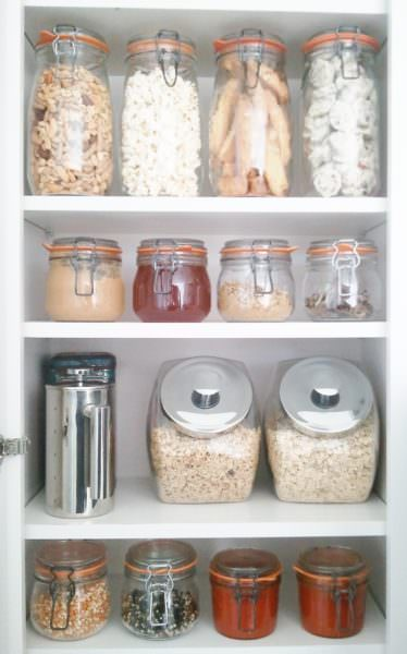 Zero waste lifestyle home pantry