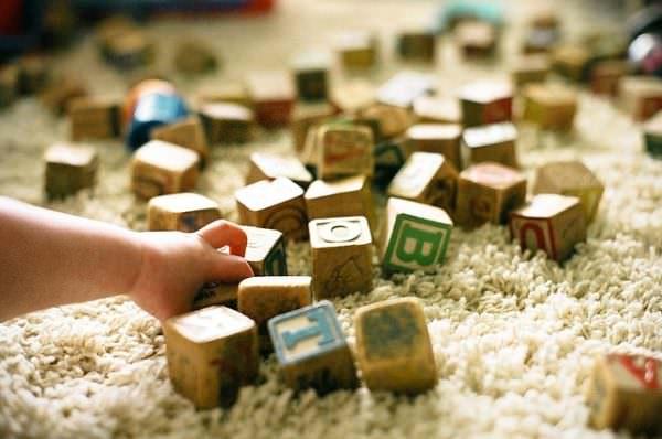 Child's wooden blocks