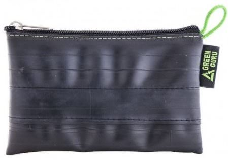 Large Upcycled Zipper Pouch by Green Guru