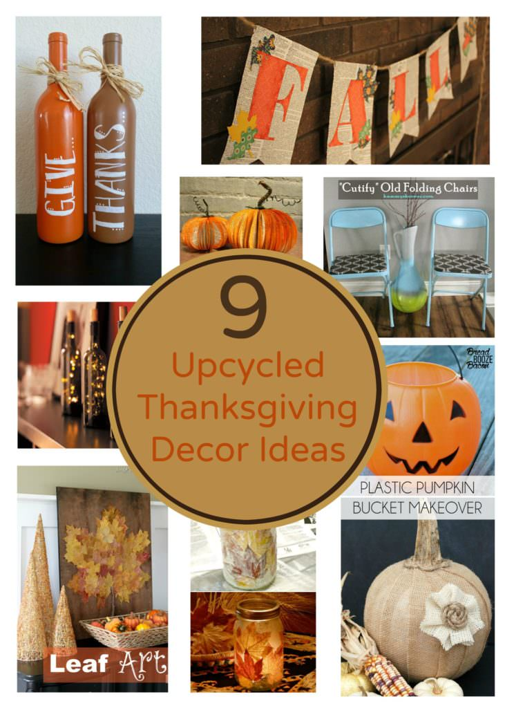 Upcycled Thanksgiving Decor