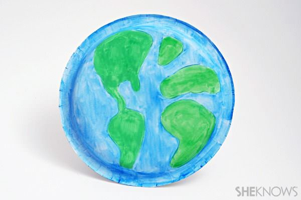 Paper plate Earth Day Earth craft