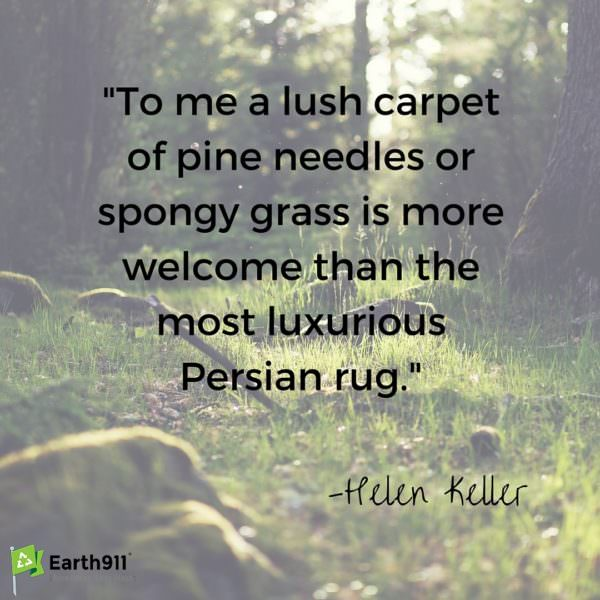 I love this quote from Helen Keller. Time spent rolling in the grass is truly wonderful.
