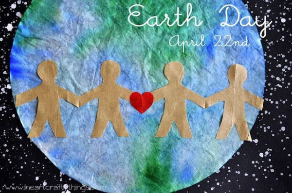 Earth Day Coffee Filter Craft for Kids