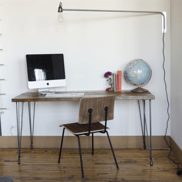 Repurposed wood desk