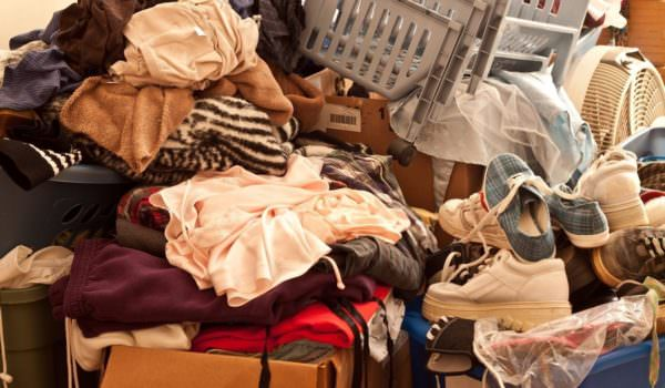 pile of clothing and other items