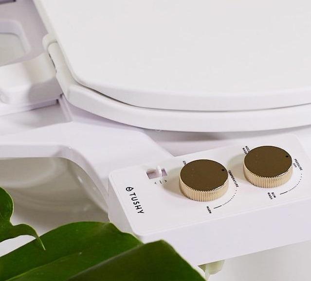 close-up of TUSHY Spa controls