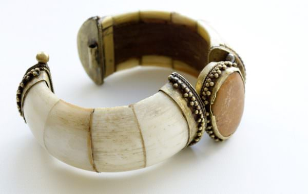 antique bracelet made of ivory