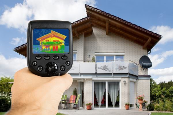 using infrared scanning of house exterior