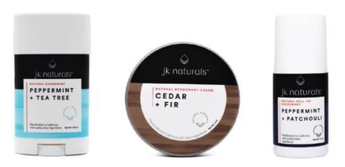 JK Naturals natural deodorants