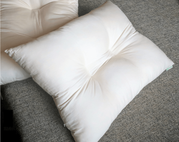 White Lotus kapok contour pillow