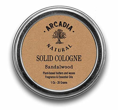 Arcadia Natural Solid Cologne, Sandalwood