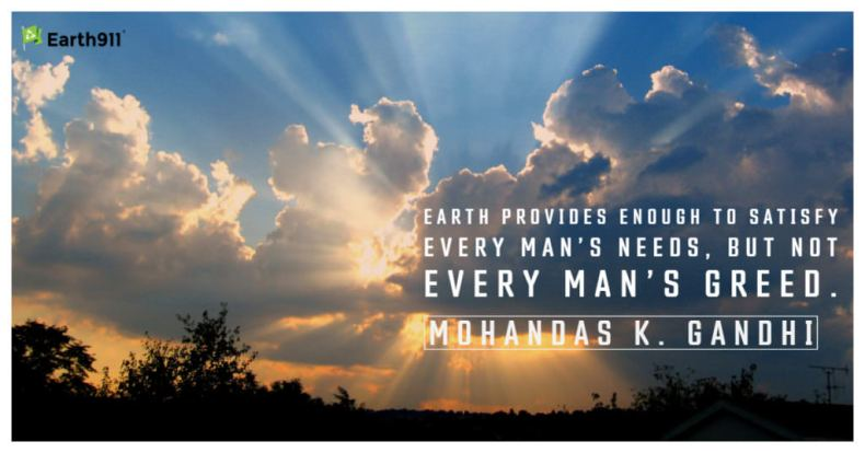 Earth provides enough