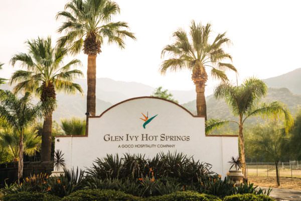 Glen Ivy Hot Springs welcome gate