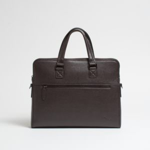 Doshi vegan leather briefcase
