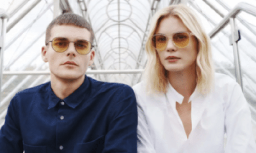 Neubau sunglasses are made with sustainable resins.