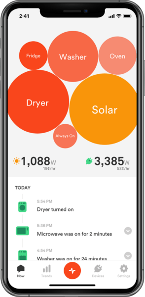 Sense app in smartphone