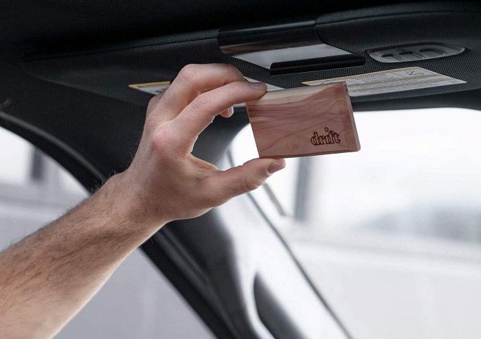Wood visor air freshener