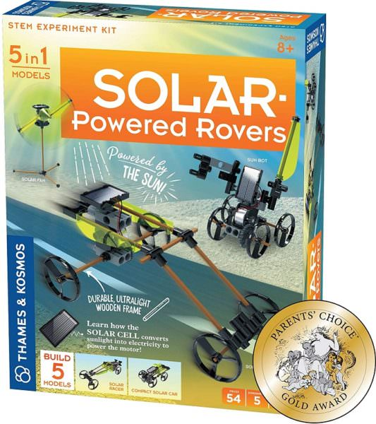 Solar-powered rover toy