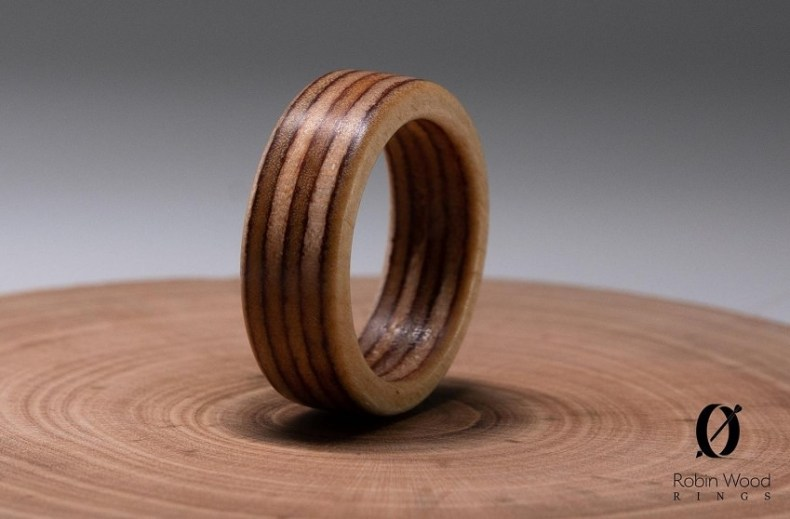 Recycled plywood ring