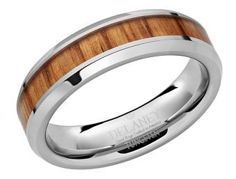 Ring made from old whiskey barrel