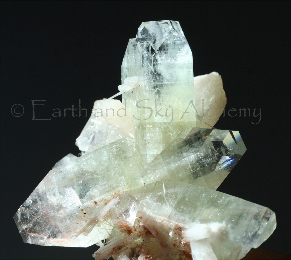 Apophyllite Stilbite crystal cluster