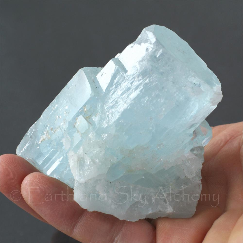 Huge aquamarine crystal