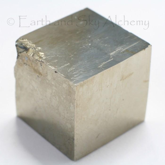 Pyrite cube crystal