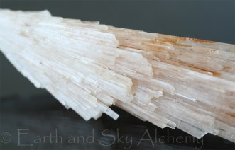 Scolecite spray crystal cluster