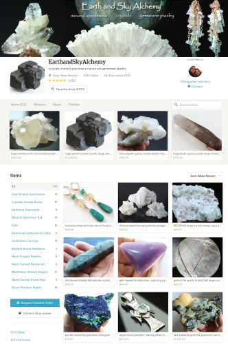 Earth and Sky Alchemy Etsy shop