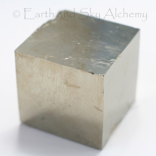 Pyrite cube crystal