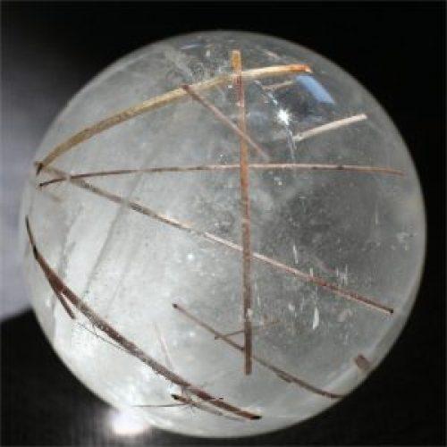 Rutile Quartz sphere