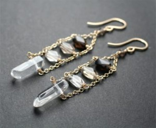 smoky-quartz-earrings