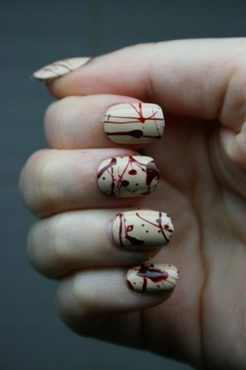 blood-splattered-nails-for-halloween