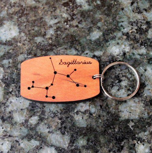 sustainable-wood-constellation-keychain-for-sagittarius