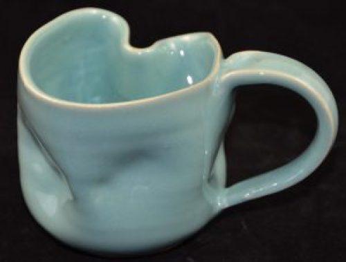 one of a kind twisted coffee mug