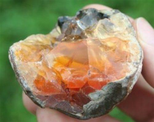 Fire Opal nodule
