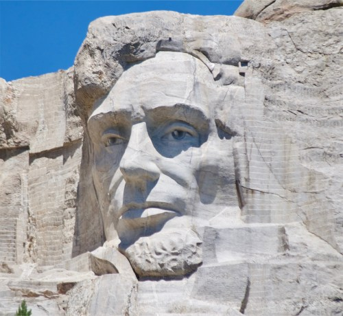 Abraham Lincoln carving at Mount Rushmore