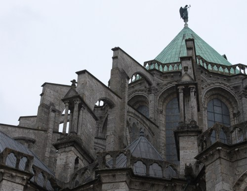 Flying buttresses of the apse