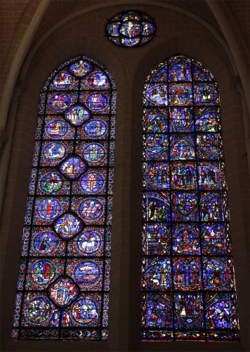 Zodiac Stained Glass in Chartes Cathedral