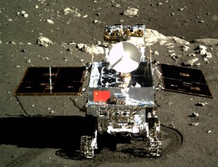 Chang'e-3 lander (left) and Yutu rover (right) [Both images from http://english.nssc.cas.cn
