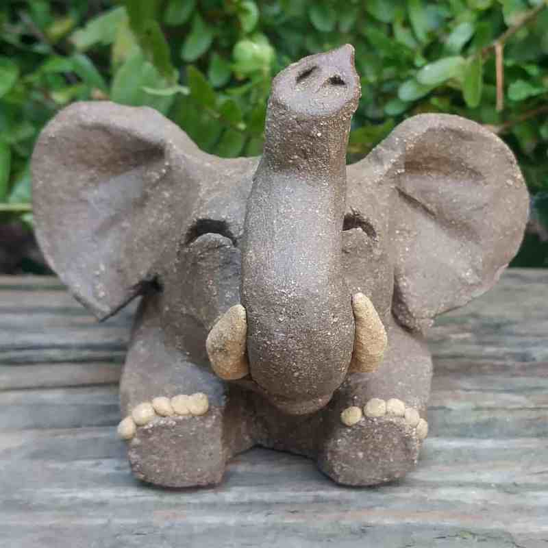 ceramic-playful-elephant-small-1024×1024-outdoor-sculpture-by-margaret-hudson-earth-arts-studio-0